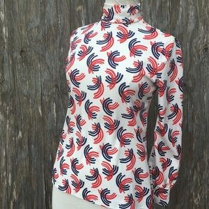Tops - Patriotic Red White Blue fitted knit top